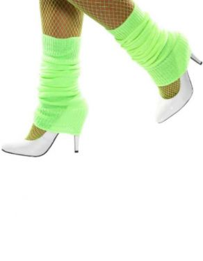 80s Leg Warmers - Lime